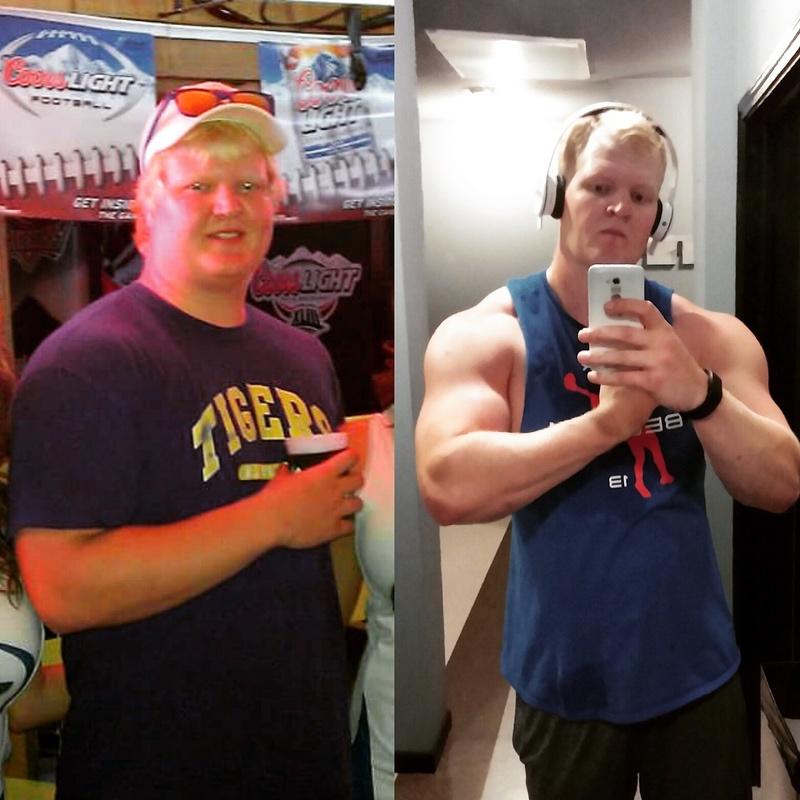 6 foot 4 Male 40 lbs Weight Loss 255 lbs to 215 lbs