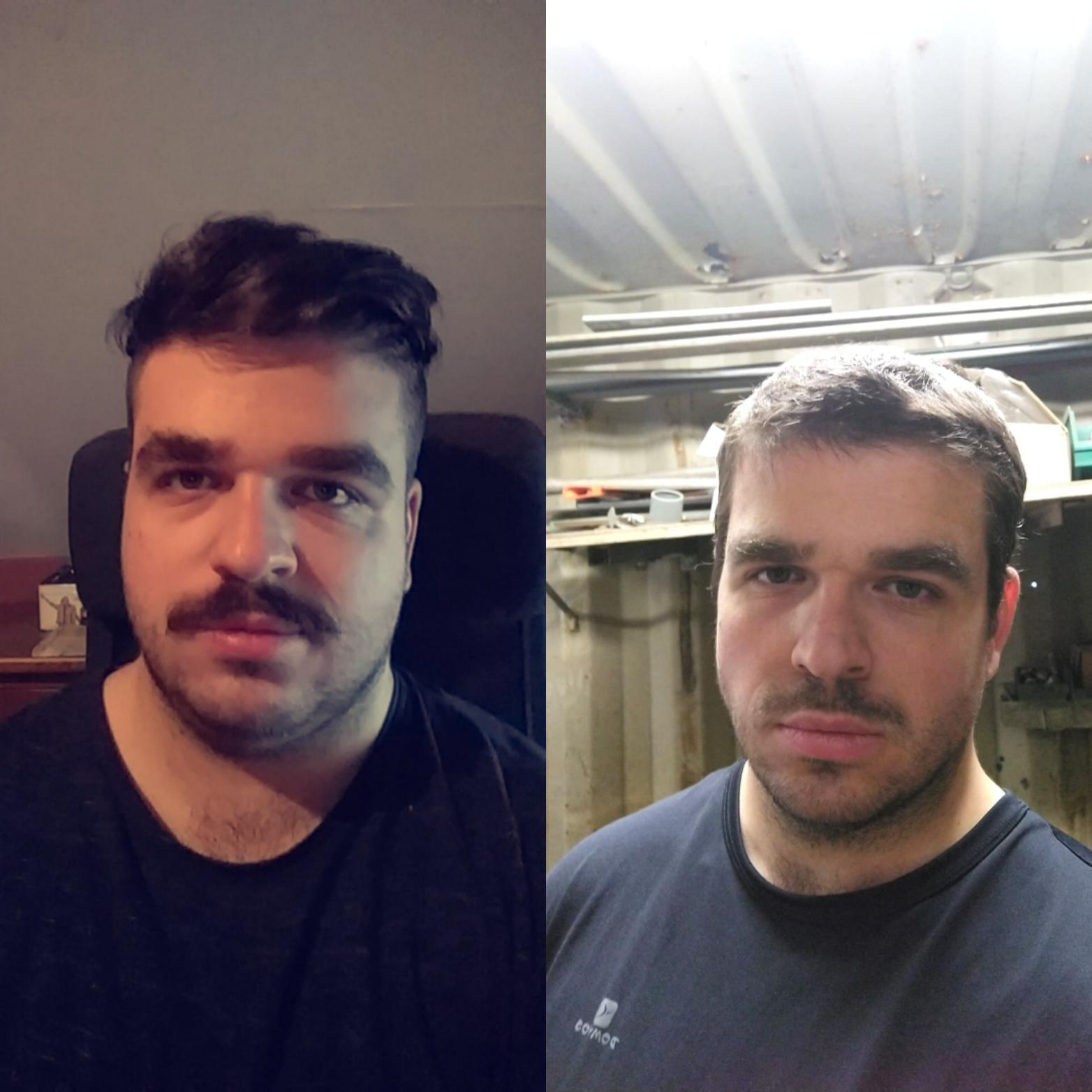 87 lbs Weight Loss Before and After 5'11 Male 297 lbs to 210 lbs