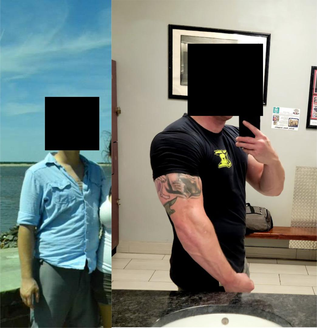 13 lbs Weight Loss Before and After 6 foot Male 248 lbs to 235 lbs