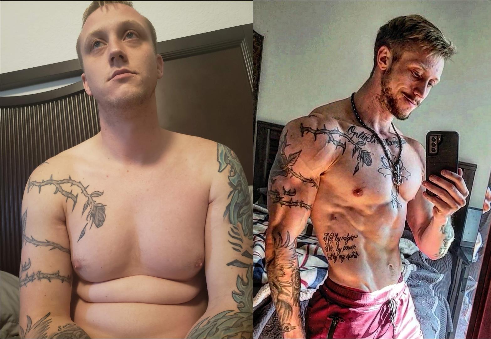 6 foot 1 Male Progress Pics of 30 lbs Fat Loss 190 lbs to 160 lbs
