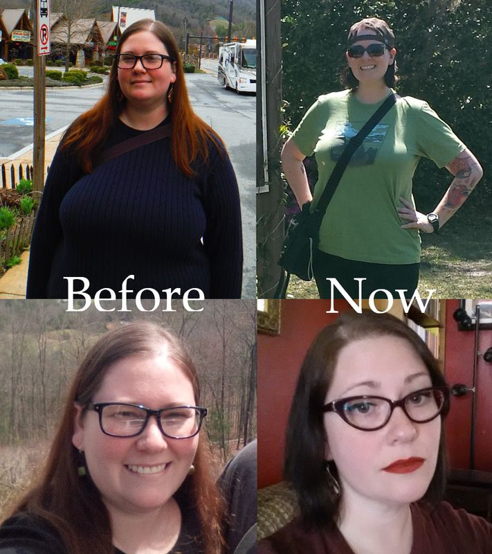 5 foot 9 Female Before and After 72 lbs Fat Loss 267 lbs to 195 lbs