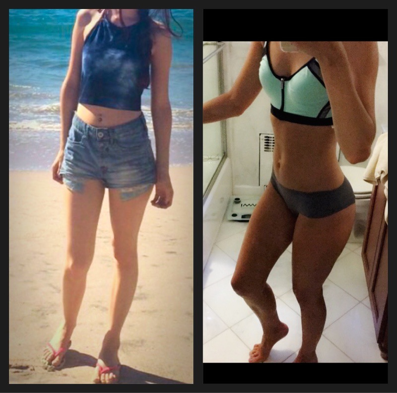 16 lbs Muscle Gain Before and After 5 foot 7 Female 99 lbs to 115 lbs