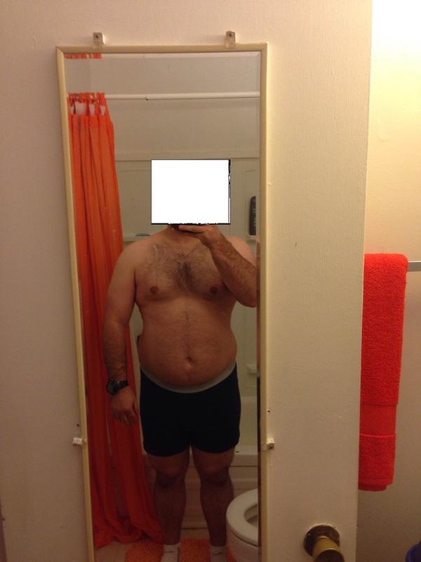 5'5 Male Before and After 8 lbs Weight Loss 215 lbs to 207 lbs