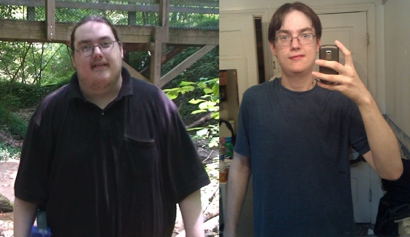 6 foot 2 Male Before and After 155 lbs Fat Loss 321 lbs to 166 lbs