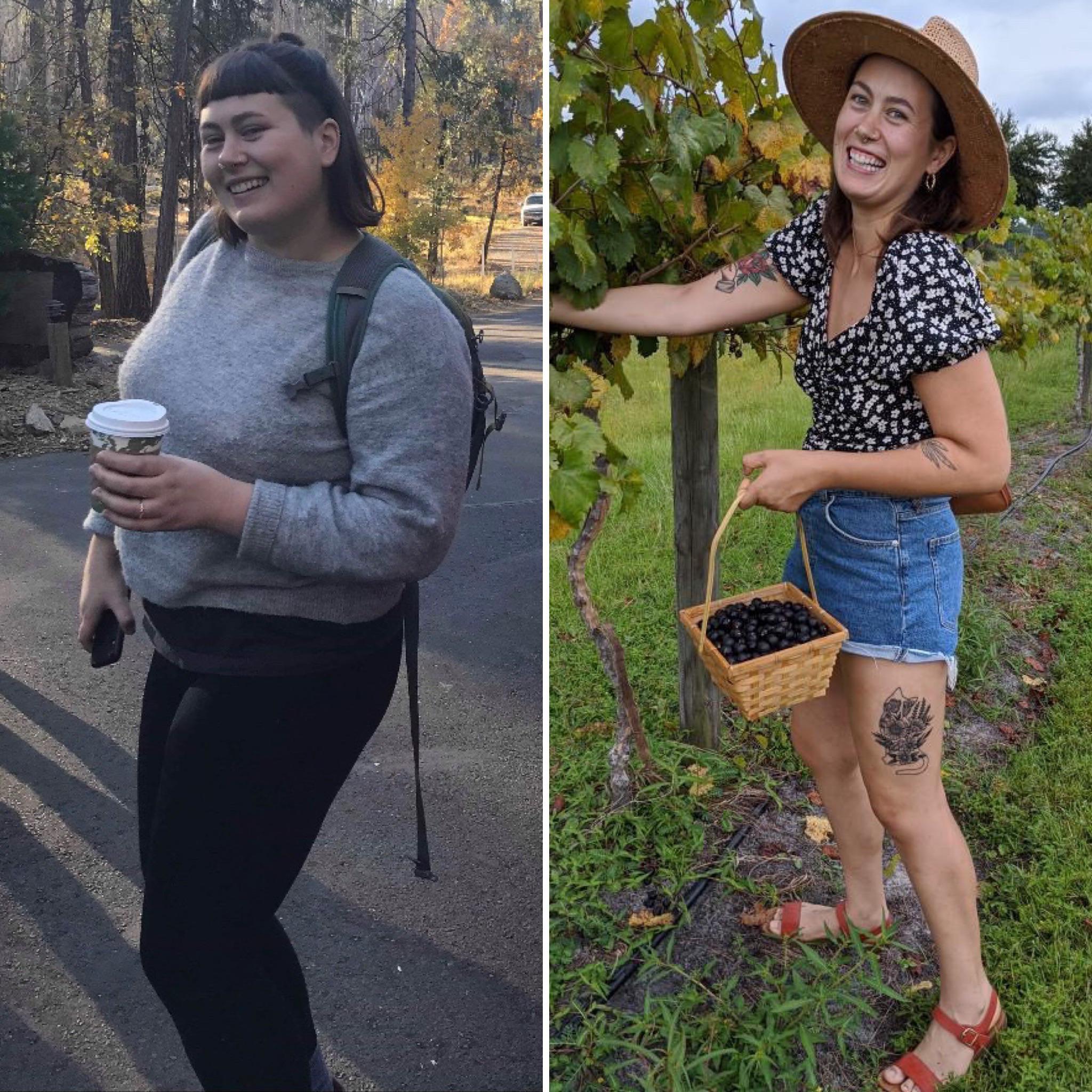 Progress Pics of 76 lbs Fat Loss 5 foot 7 Female 220 lbs to 144 lbs