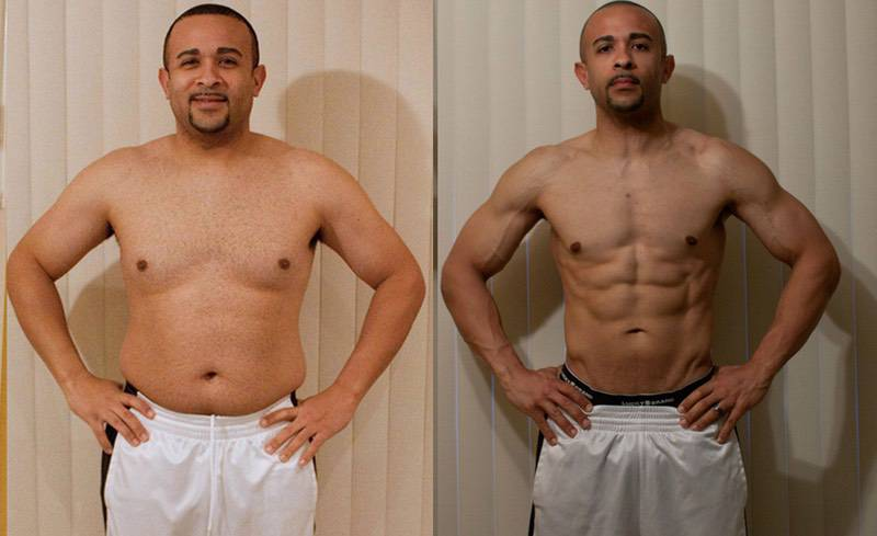 53 lbs Weight Loss Before and After 5 foot Male 212 lbs to 159 lbs