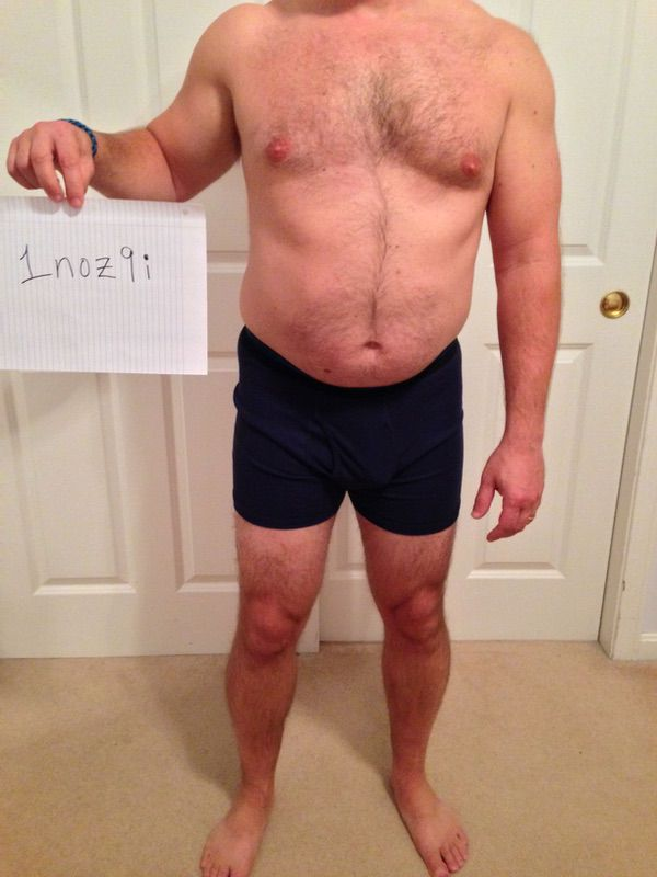 3 Pictures of a 5 foot 8 180 lbs Male Weight Snapshot