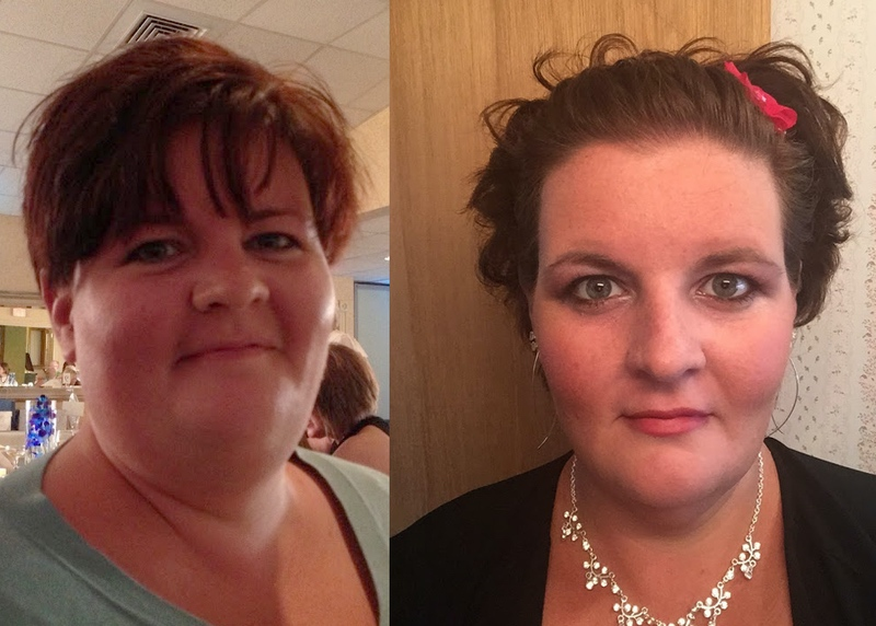 5 feet 5 Female Before and After 65 lbs Fat Loss 300 lbs to 235 lbs
