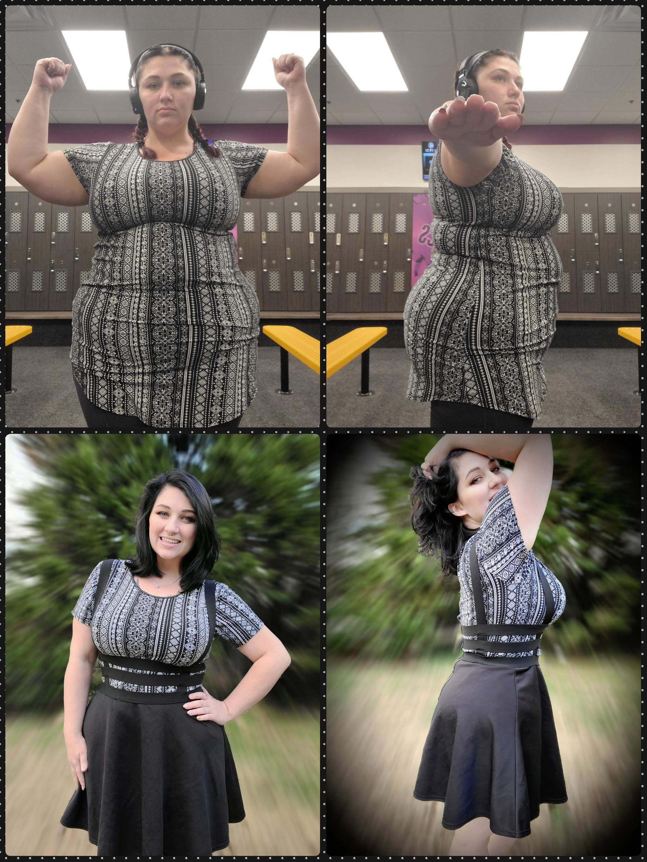5'1 Female Progress Pics of 89 lbs Fat Loss 250 lbs to 161 lbs