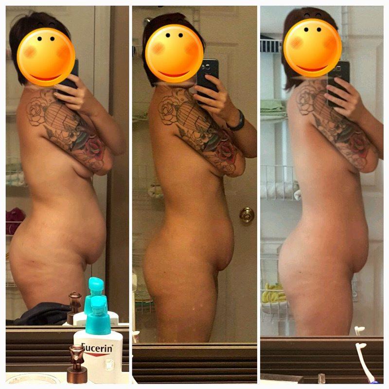 5'6 Female Progress Pics of 20 lbs Fat Loss 183 lbs to 163 lbs