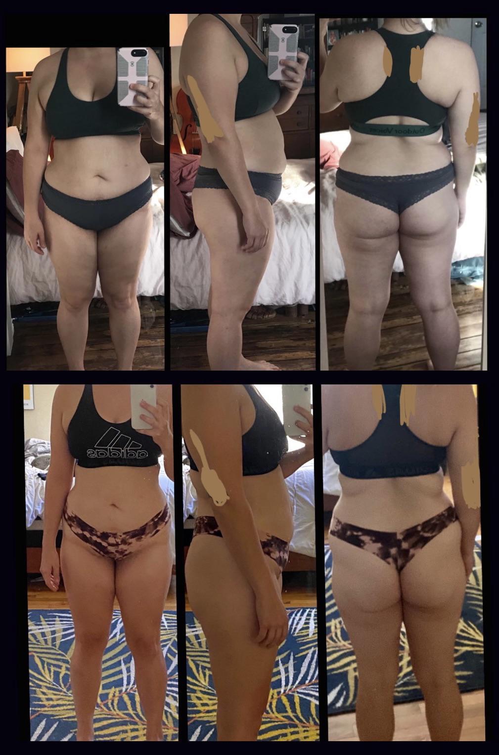5 feet 4 Female 21 lbs Fat Loss 176 lbs to 155 lbs