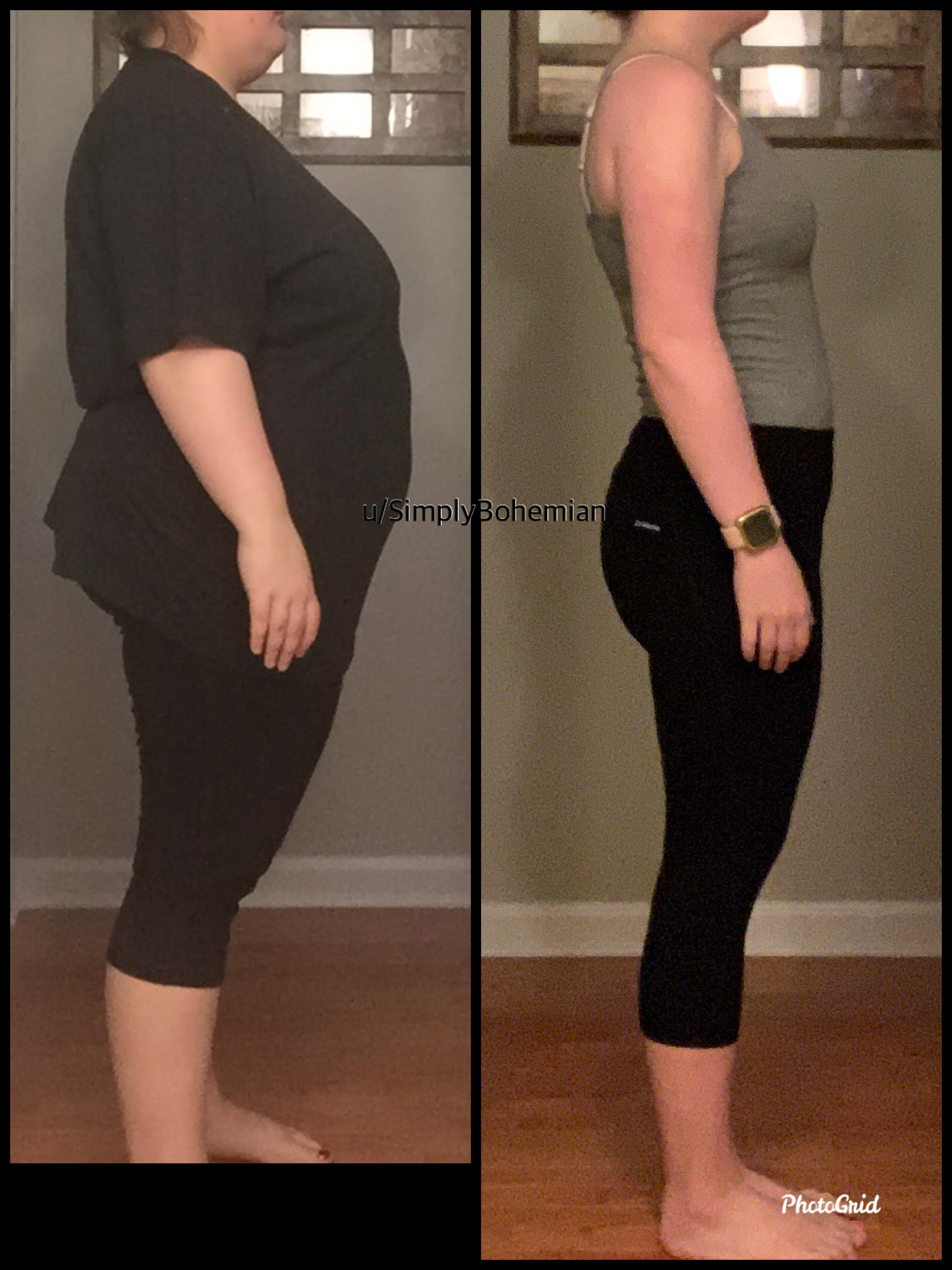 5 foot 3 Female 101 lbs Weight Loss Before and After 230 lbs to 129 lbs