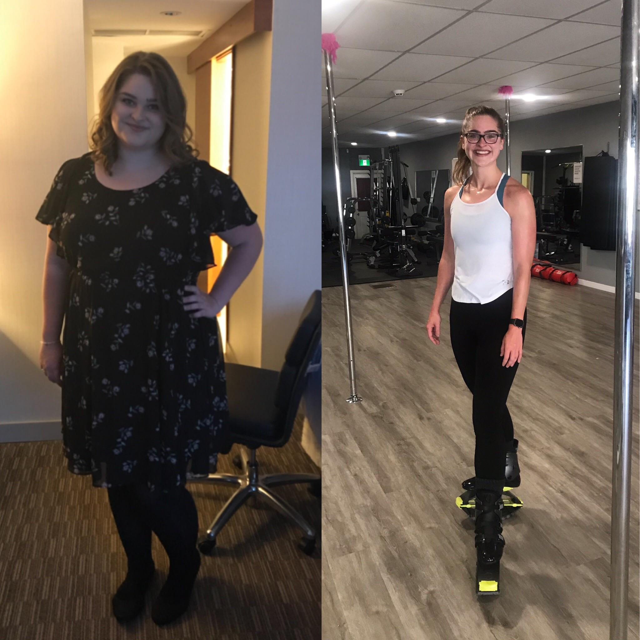 5'11 Female 135 lbs Weight Loss Before and After 300 lbs to 165 lbs