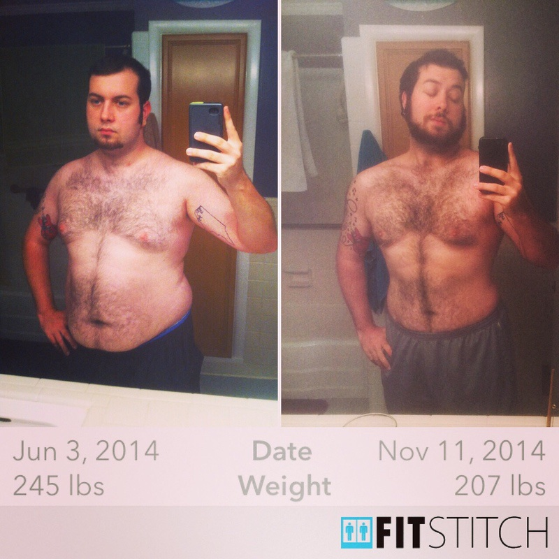 43 lbs Weight Loss Before and After 5 foot 10 Male 250 lbs to 207 lbs