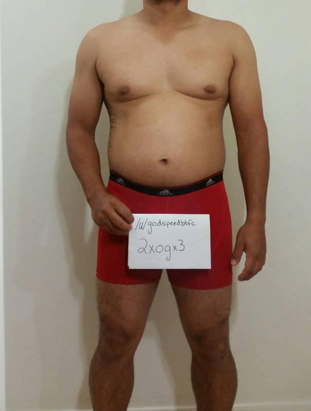 3 Photos of a 5 feet 6 208 lbs Male Weight Snapshot