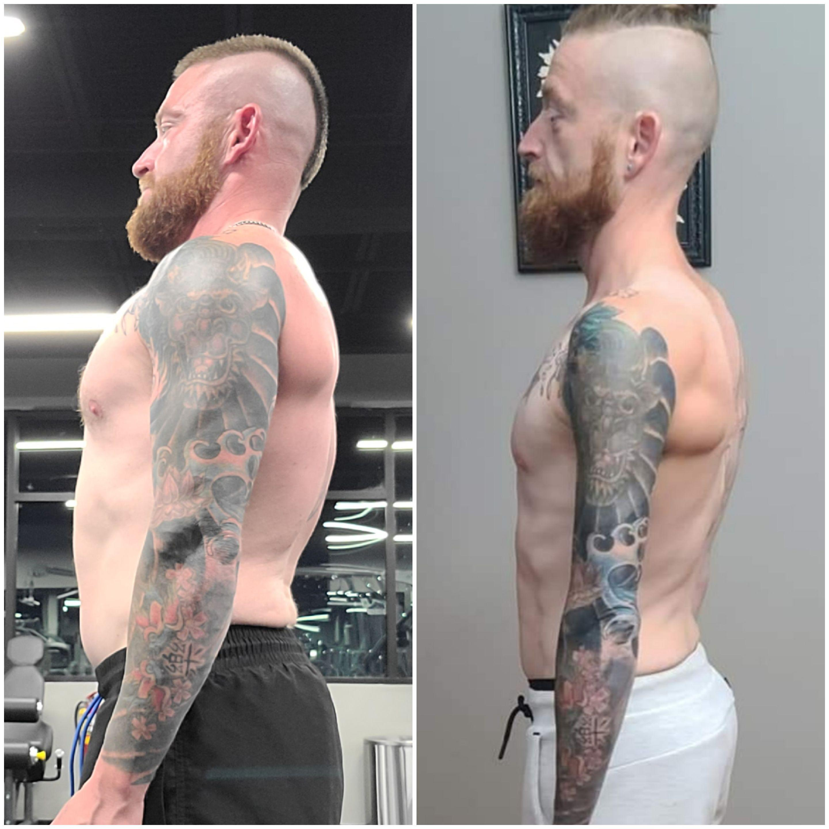 5 feet 3 Male Before and After 30 lbs Muscle Gain 125 lbs to 155 lbs