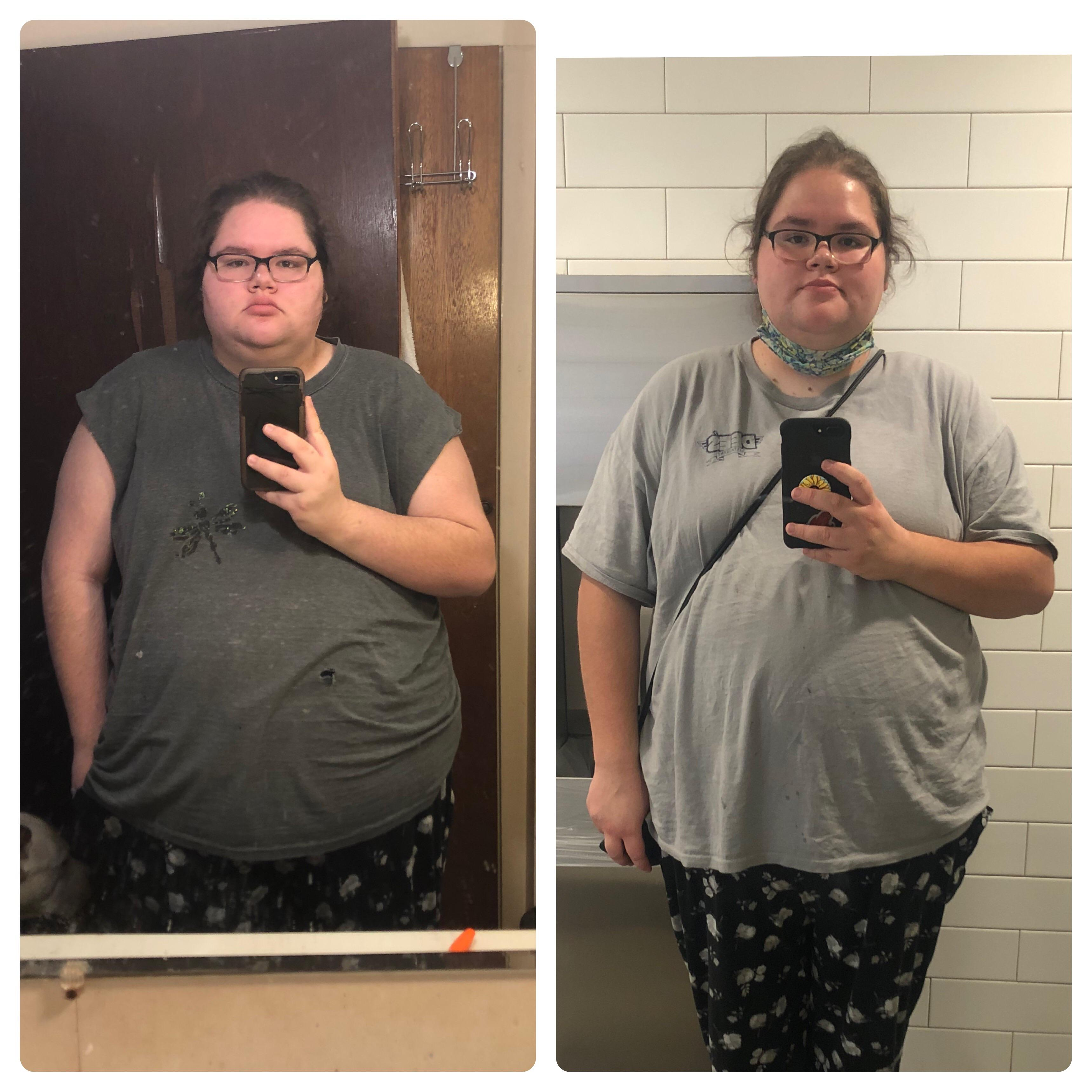 42 lbs Weight Loss 5 foot 8 Female 364 lbs to 322 lbs