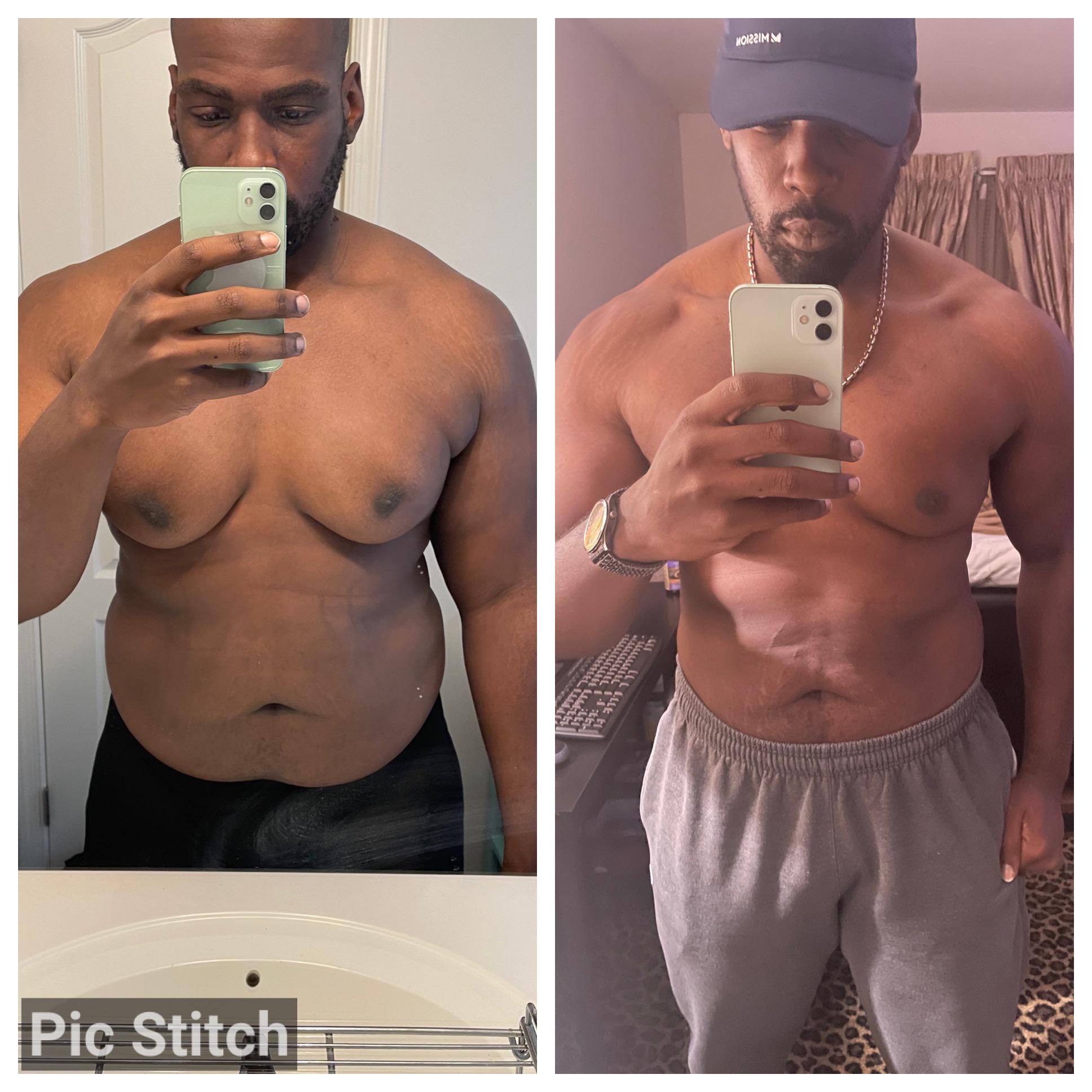 6 foot Male Progress Pics of 32 lbs Weight Loss 280 lbs to 248 lbs