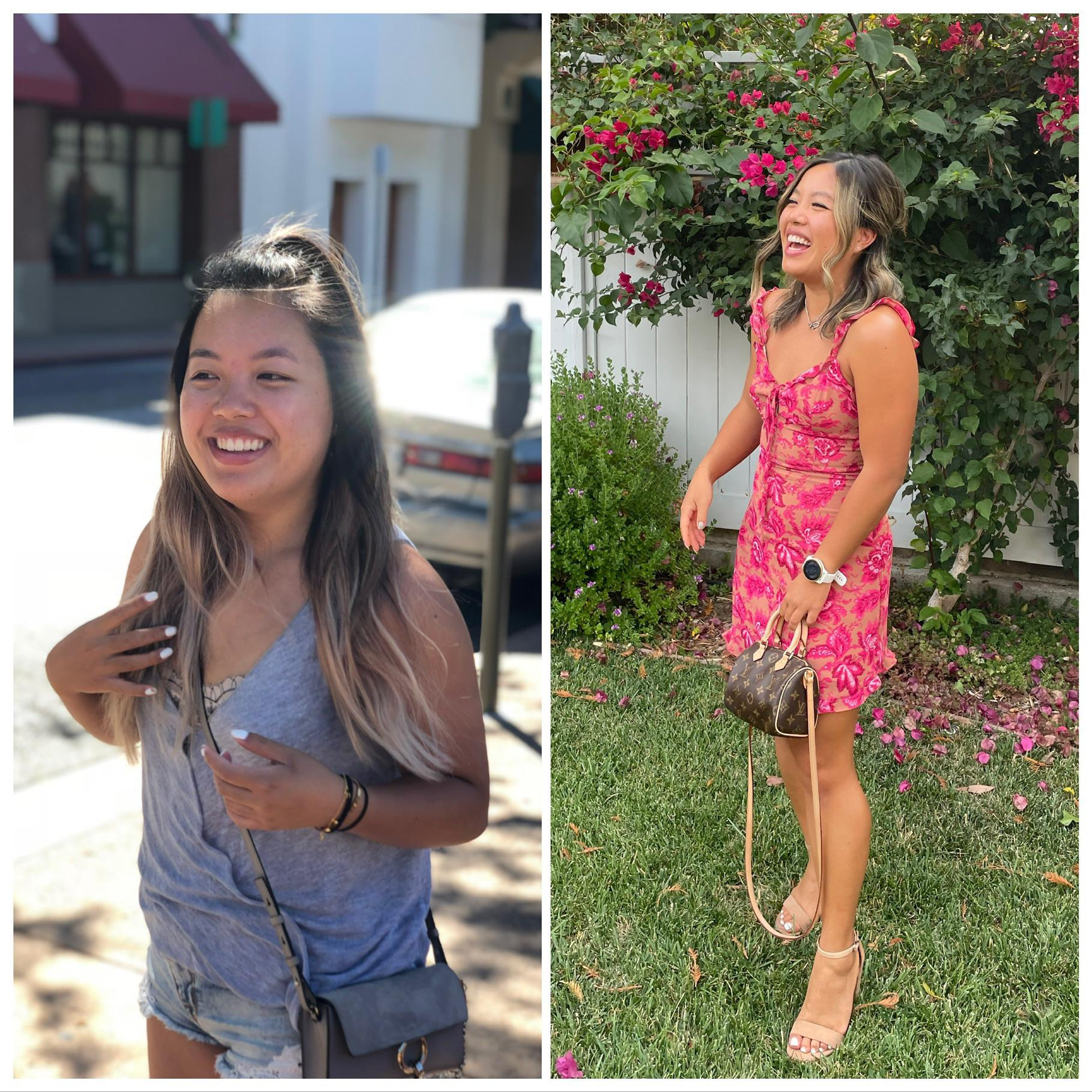 12 lbs Fat Loss Before and After 4 foot 11 Female 130 lbs to 118 lbs