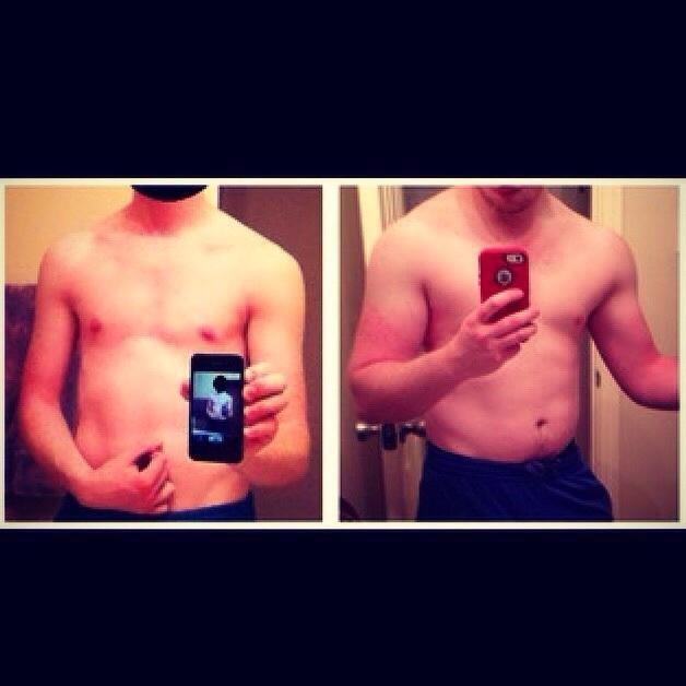 Progress Pics of 35 lbs Weight Gain 5 foot 8 Male 120 lbs to 155 lbs