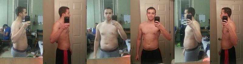 25 lbs Fat Loss 5 foot Male 180 lbs to 155 lbs