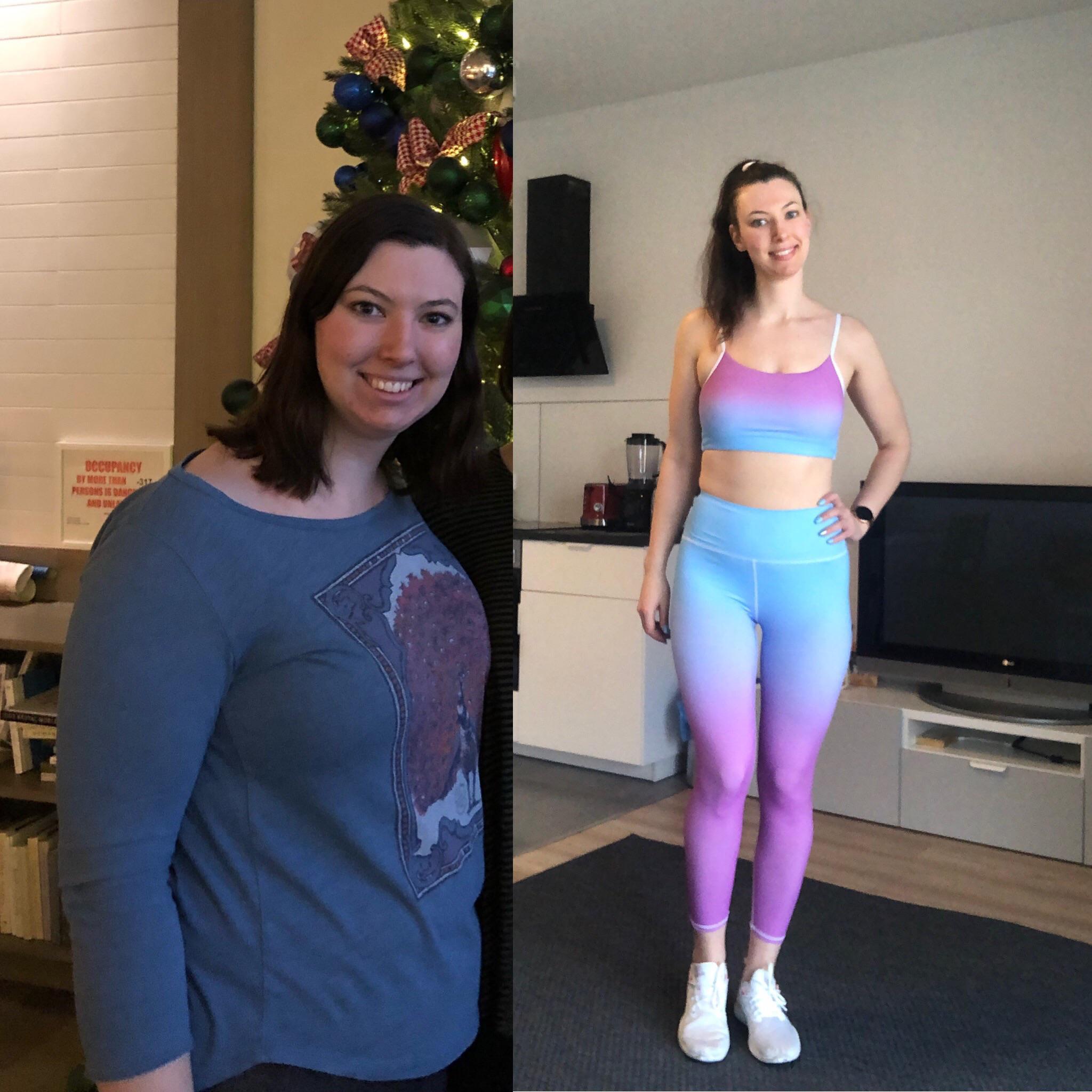 Progress Pics of 47 lbs Fat Loss 5 feet 10 Female 200 lbs to 153 lbs