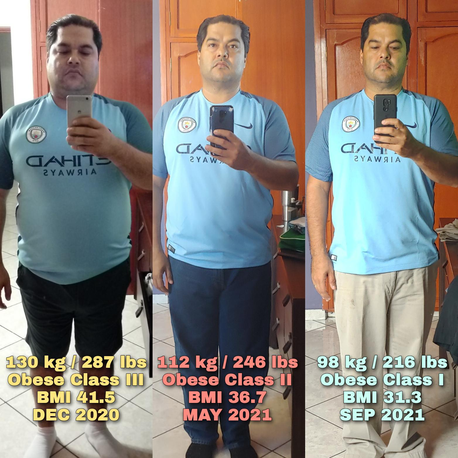 71 lbs Weight Loss Before and After 5 feet 10 Male 287 lbs to 216 lbs