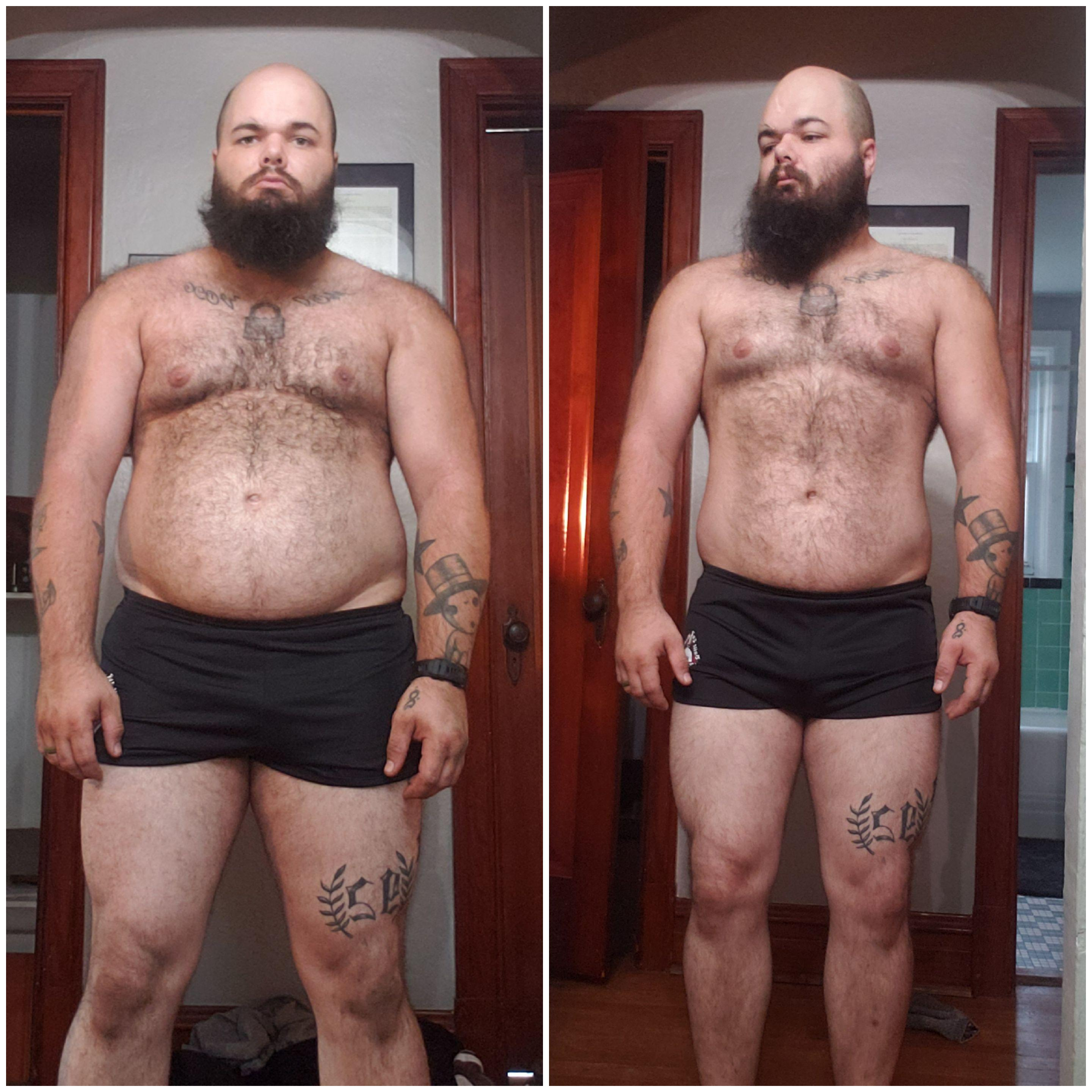 12 lbs Fat Loss Before and After 5 feet 7 Male 240 lbs to 228 lbs