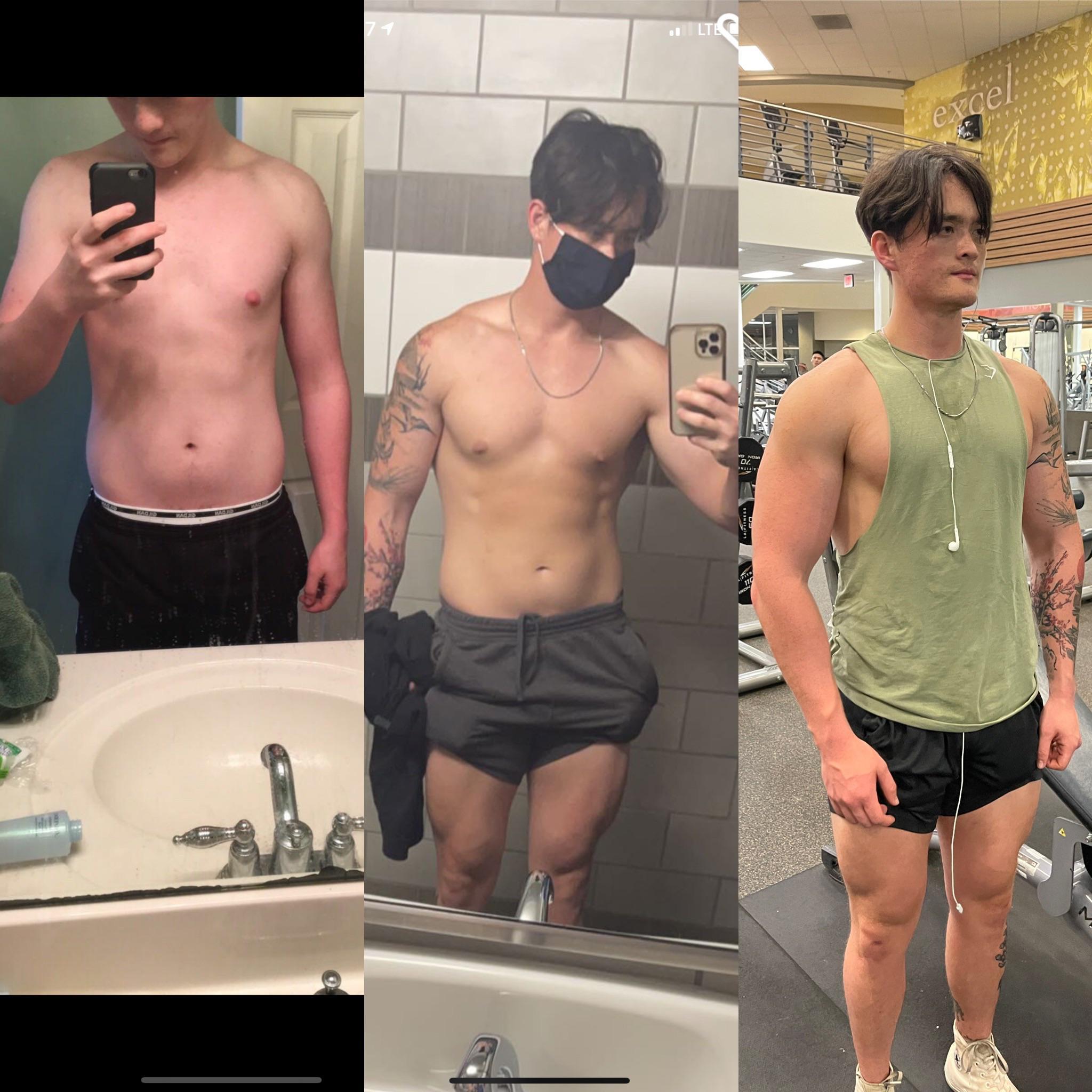 21 lbs Weight Gain 5'1 Male 170 lbs to 191 lbs