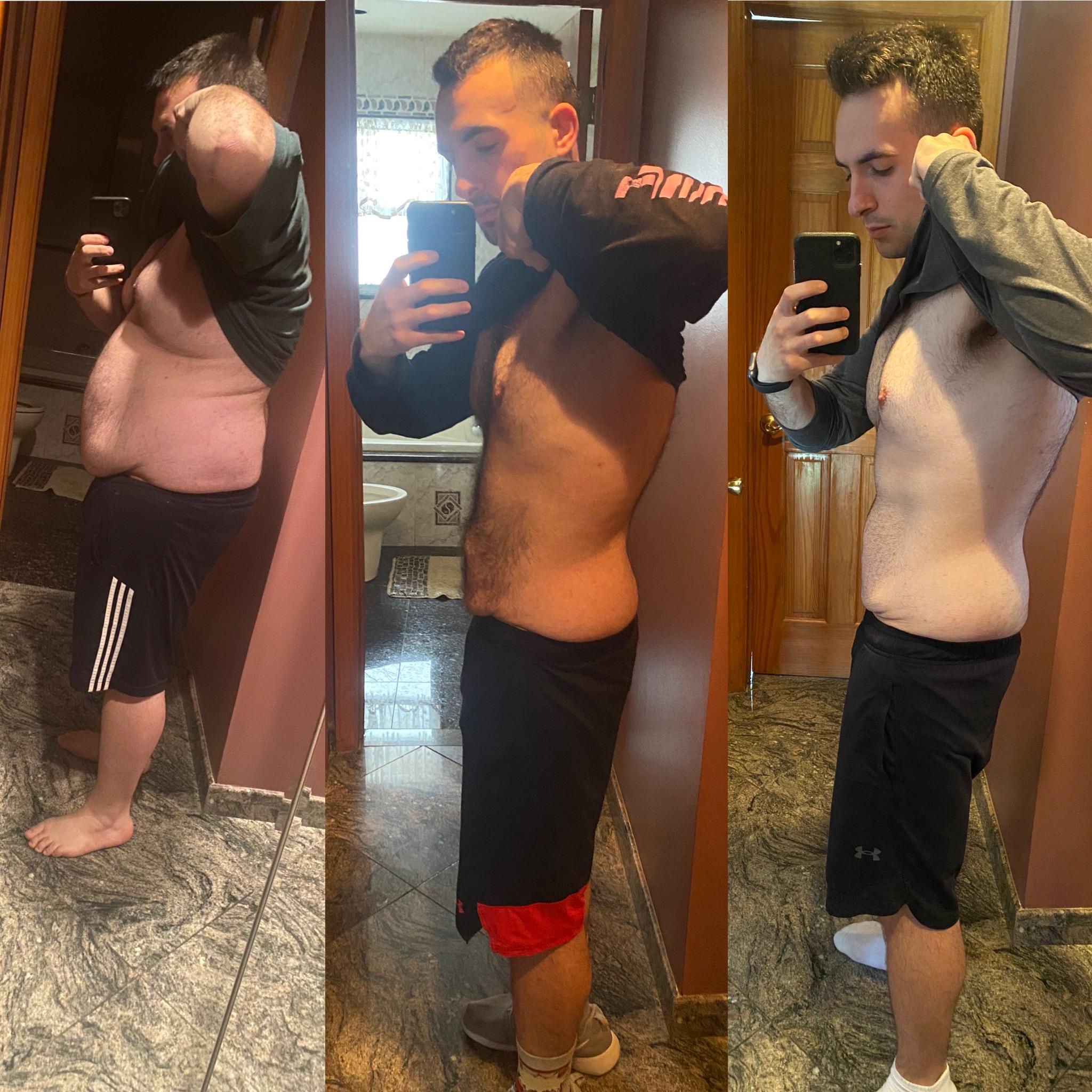 5'9 Male Before and After 122 lbs Fat Loss 300 lbs to 178 lbs