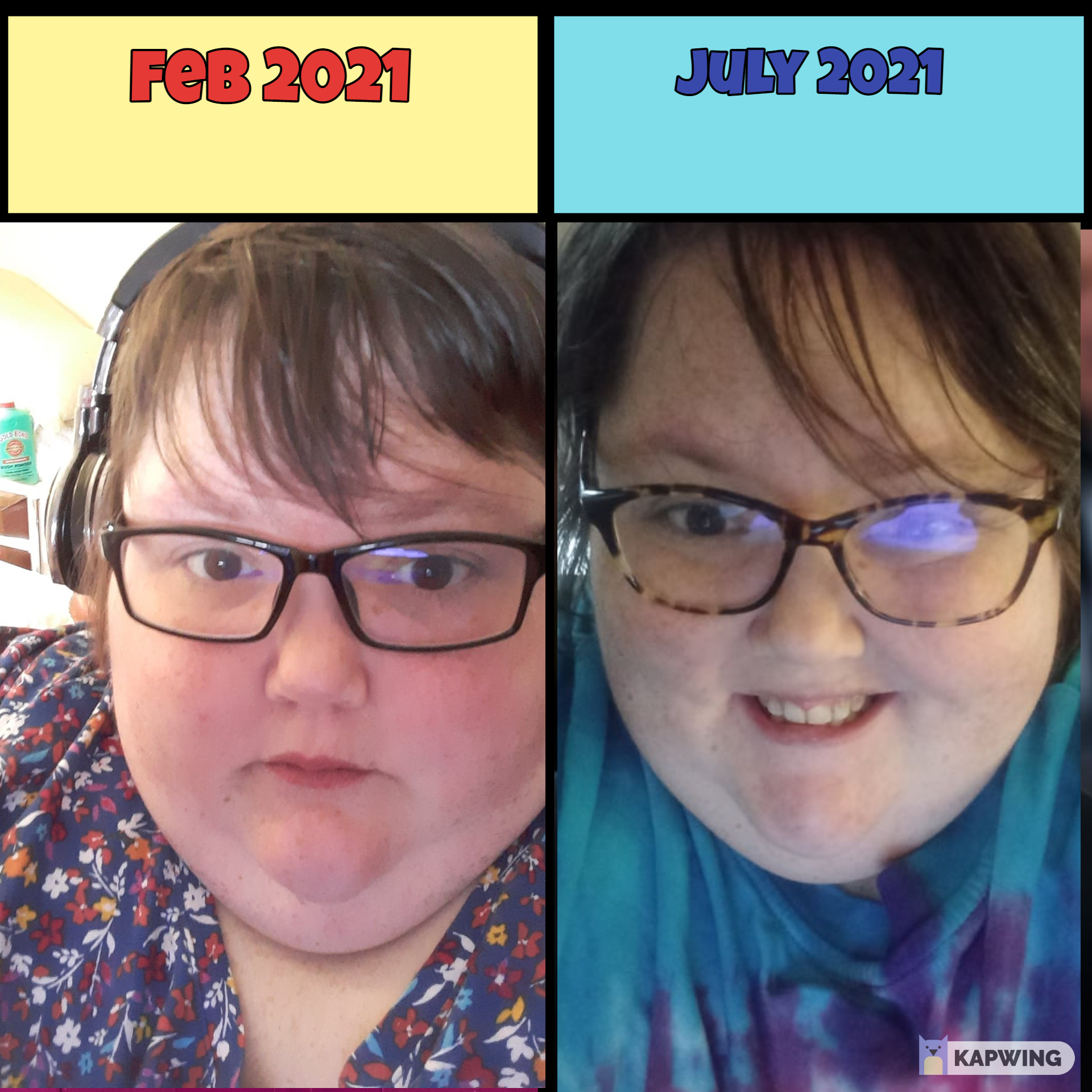 5 feet 5 Female 83 lbs Fat Loss Before and After 621 lbs to 538 lbs