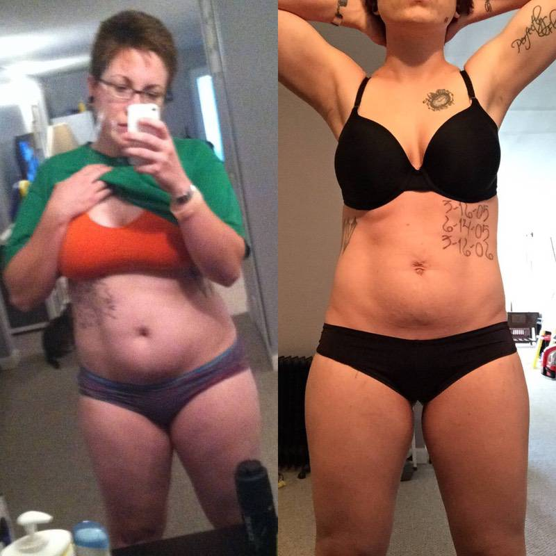 5'6 Female 50 lbs Weight Loss Before and After 209 lbs to 159 lbs