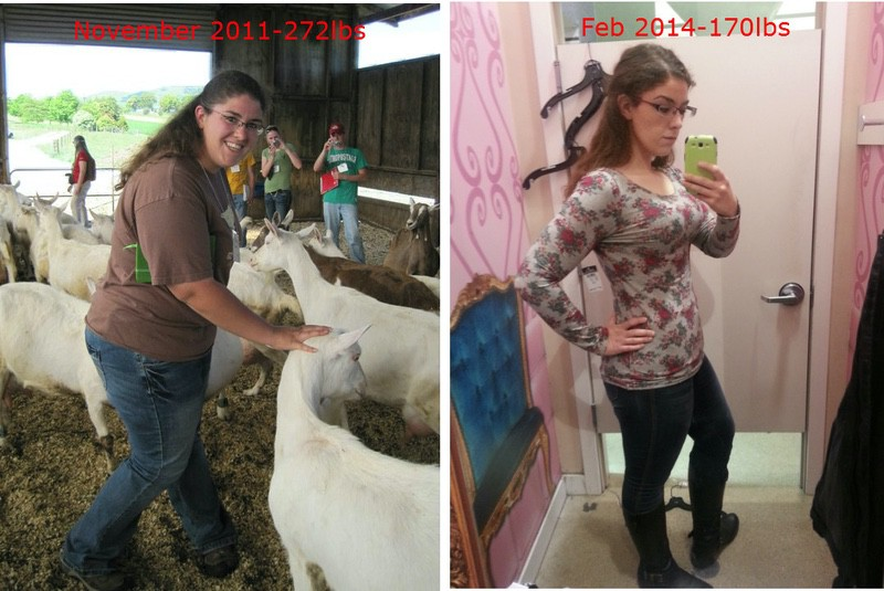 5 feet 8 Female 102 lbs Fat Loss Before and After 272 lbs to 170 lbs