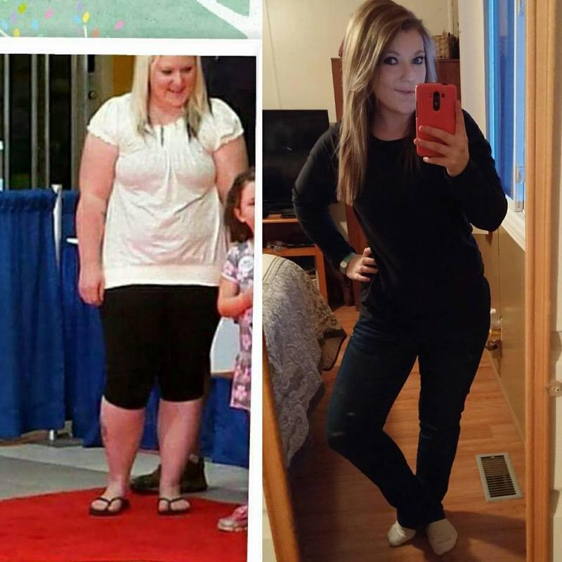 50 lbs Fat Loss Before and After 5 feet 1 Female 190 lbs to 140 lbs