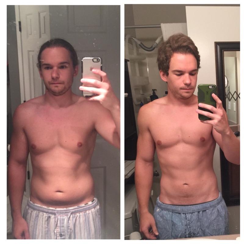 Progress Pics of 13 lbs Fat Loss 5'7 Male 160 lbs to 147 lbs