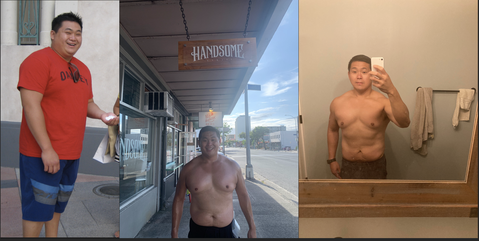 28 lbs Weight Loss Before and After 5'7 Male 229 lbs to 201 lbs