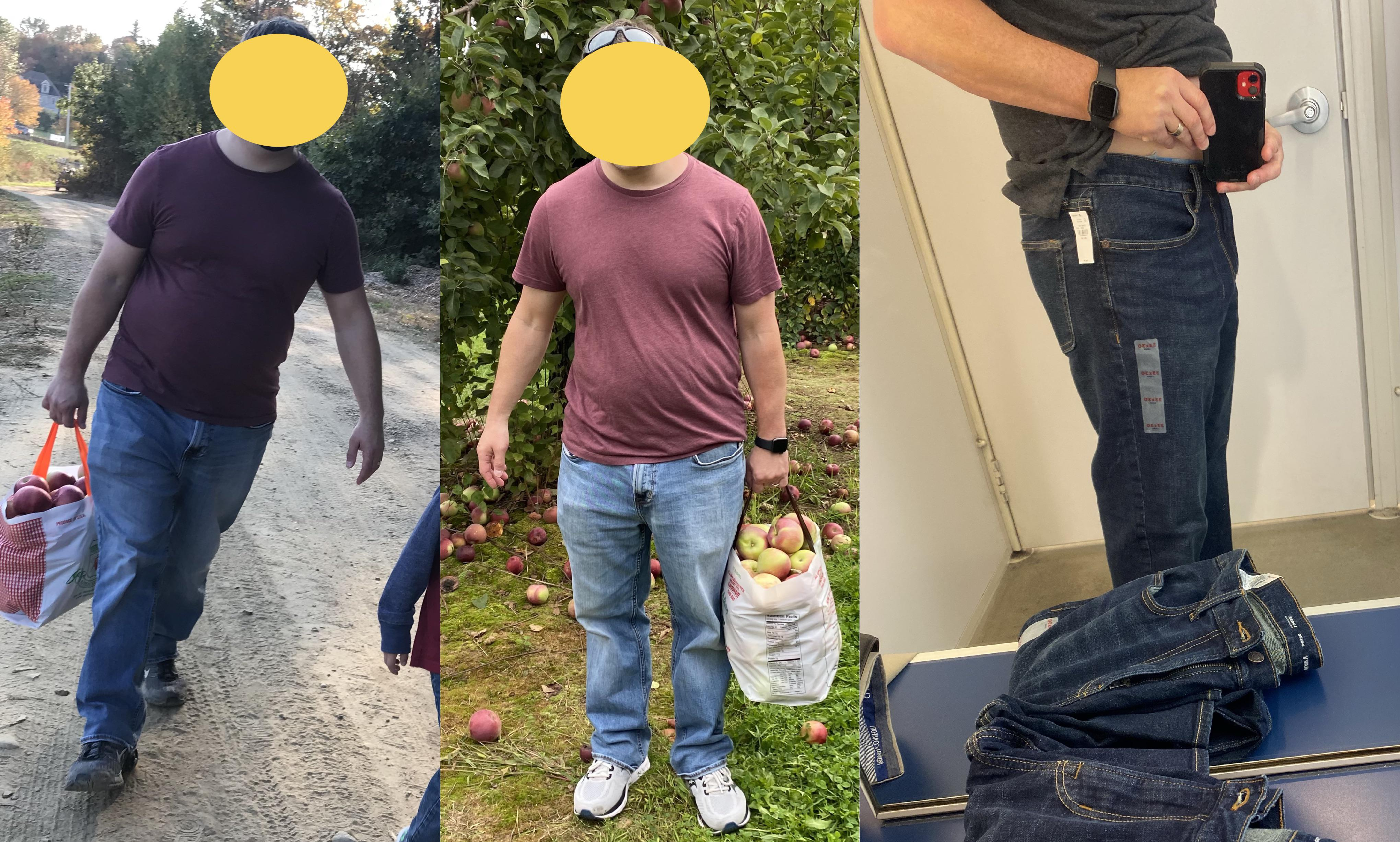 5'7 Male 30 lbs Weight Loss Before and After 215 lbs to 185 lbs