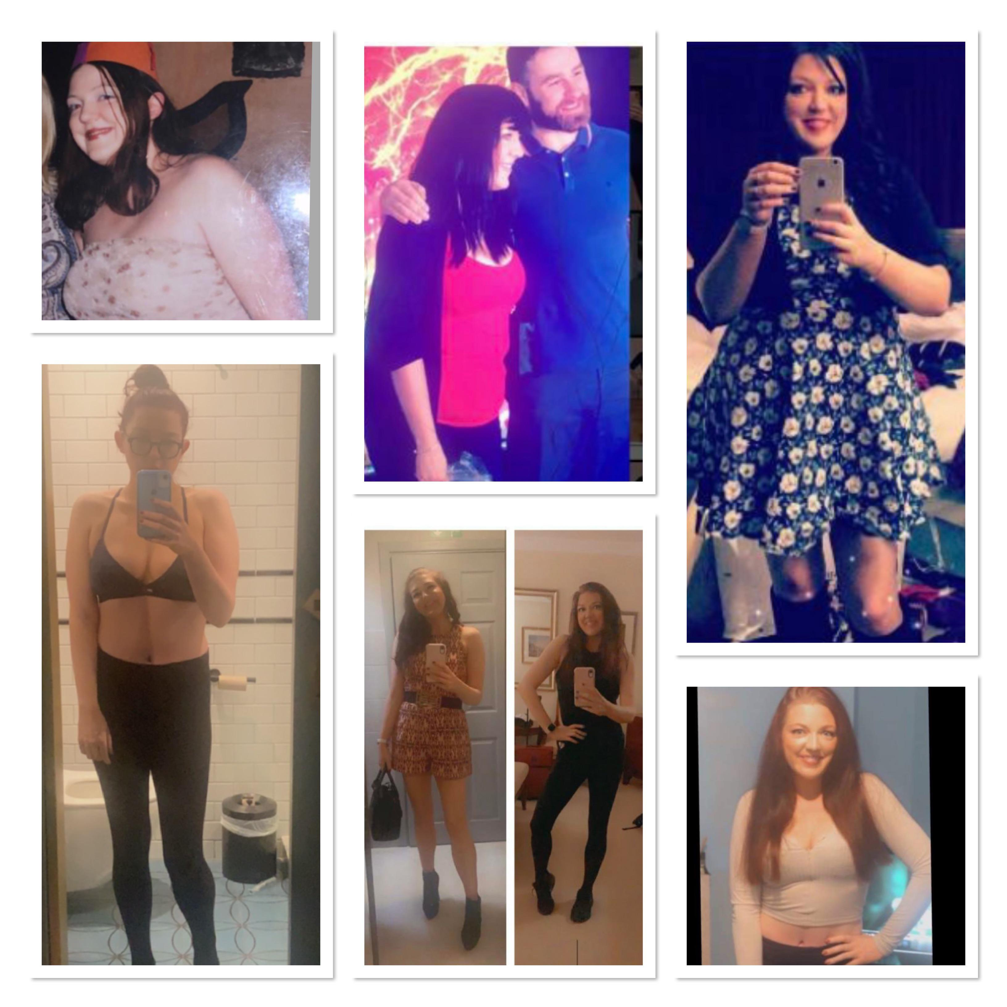 5'8 Female Before and After 72 lbs Fat Loss 210 lbs to 138 lbs