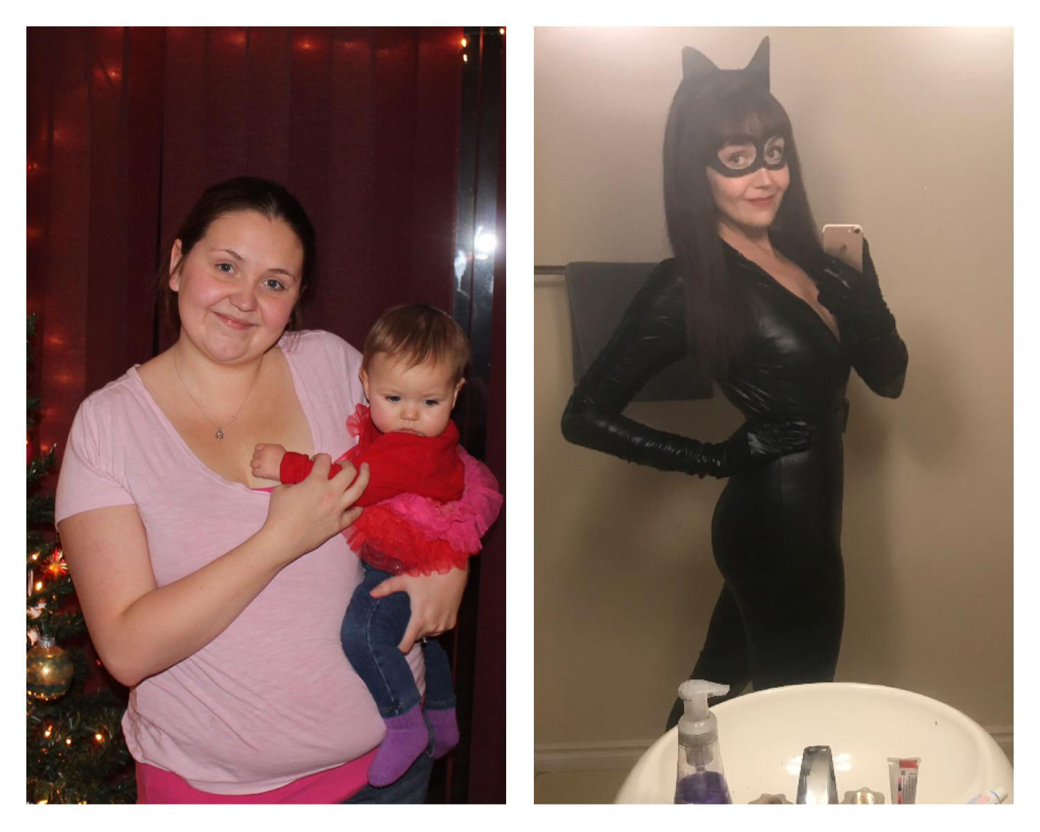 83 lbs Fat Loss Before and After 5 foot 11 Female 213 lbs to 130 lbs
