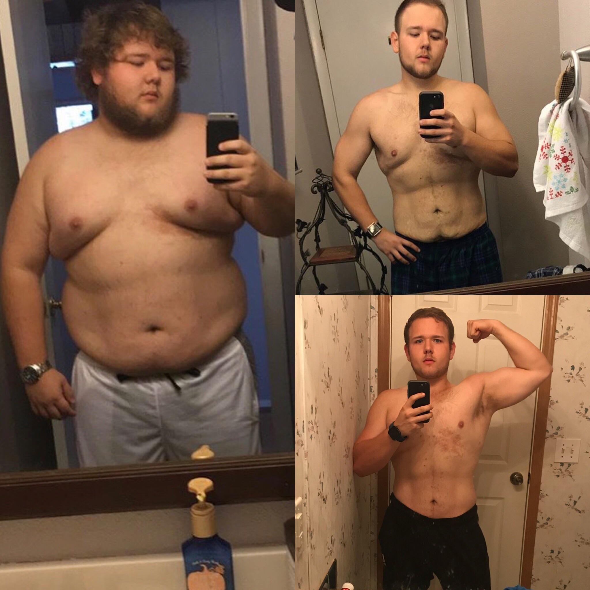 118 lbs Fat Loss 5'7 Male 320 lbs to 202 lbs