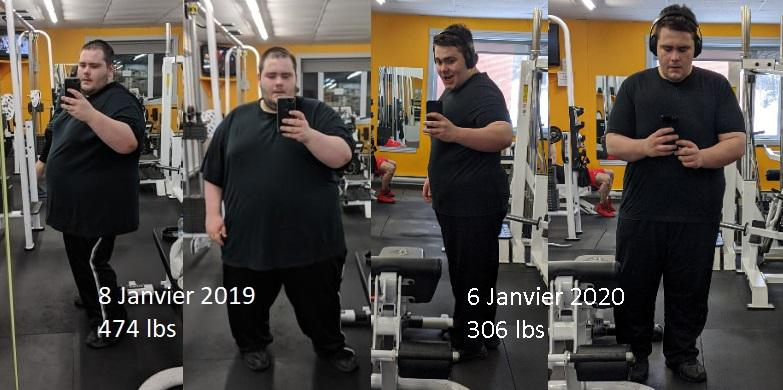 5 feet 6 Male Before and After 168 lbs Weight Loss 474 lbs to 306 lbs