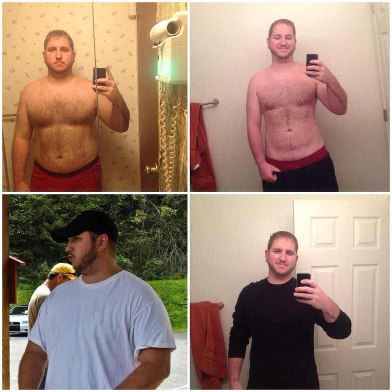58 lbs Weight Loss Before and After 6'2 Male 300 lbs to 242 lbs