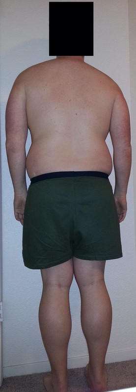 4 Pictures of a 5'11 224 lbs Male Weight Snapshot