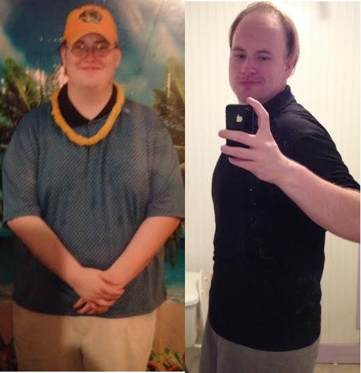 Before and After 250 lbs Fat Loss 6'6 Male 497 lbs to 247 lbs