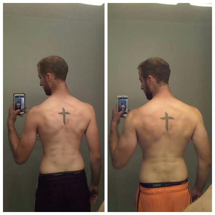 6'6 Male Progress Pics of 30 lbs Weight Gain 165 lbs to 195 lbs