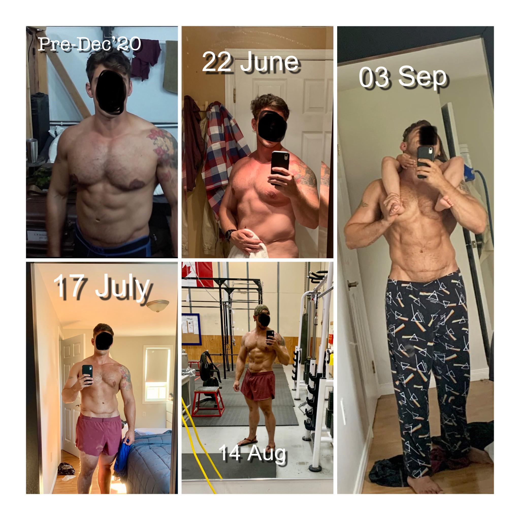 25 lbs Weight Loss 6 foot 1 Male 267 lbs to 242 lbs