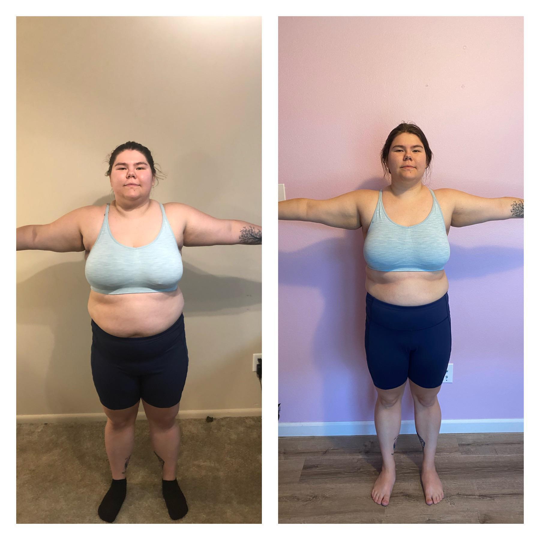 5'4 Female Progress Pics of 36 lbs Weight Loss 225 lbs to 189 lbs