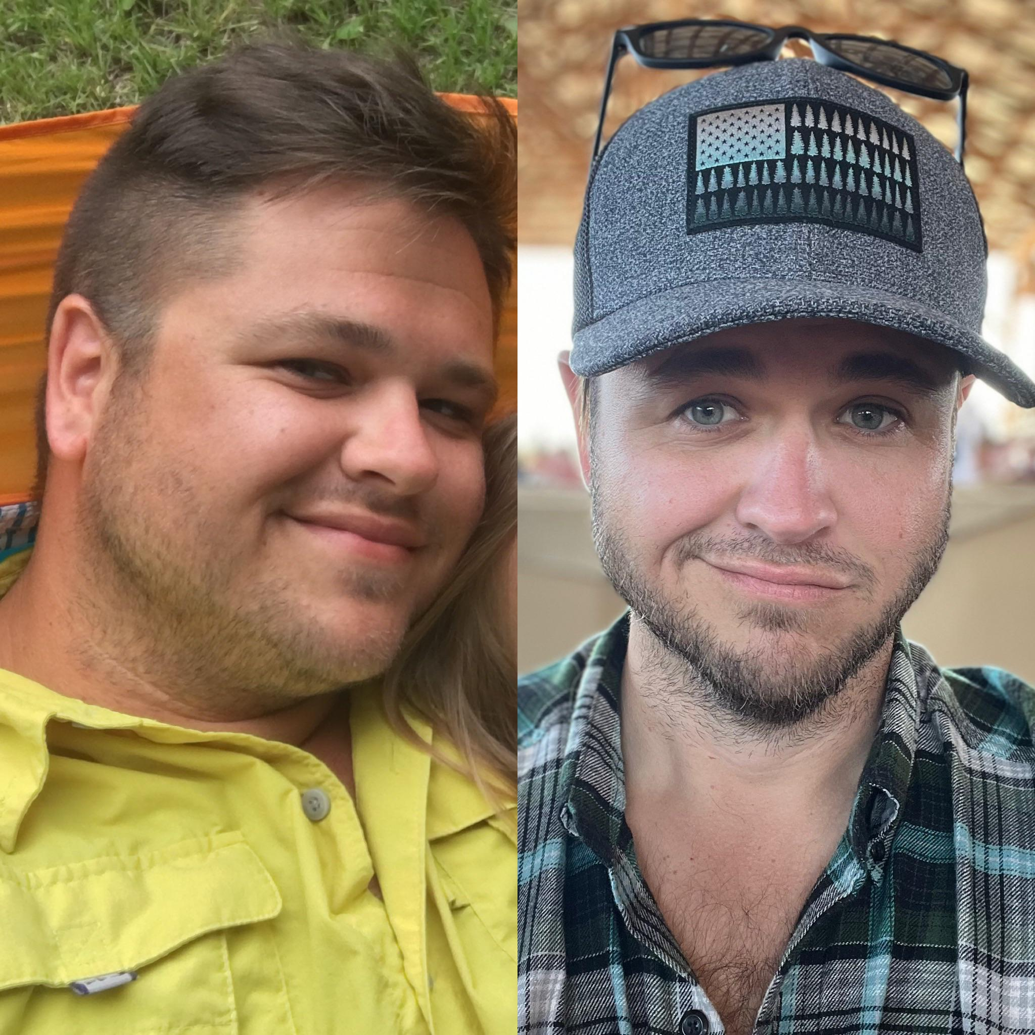 5 foot 9 Male Before and After 70 lbs Weight Loss 265 lbs to 195 lbs