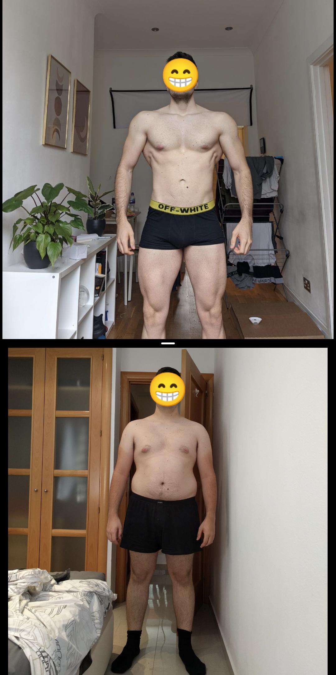 Progress Pics of 38 lbs Weight Loss 5 foot 11 Male 216 lbs to 178 lbs
