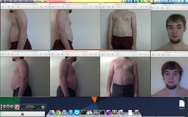 5'9 Male Before and After 35 lbs Weight Loss 210 lbs to 175 lbs